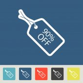 90 percent off Tag icons set — Stock Vector