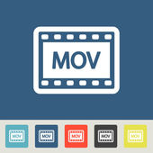 Mov Icons set — Stock Vector