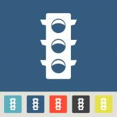 Traffic lights icon set — Stock Vector