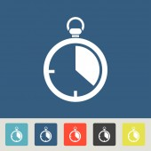 Timer icons set — Stock Vector