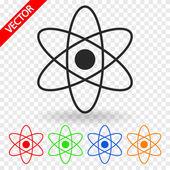 Abstracte fysica wetenschap model pictogram — Stockvector