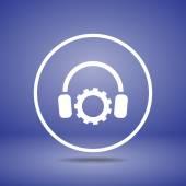 Sluchawki ikona ilustracja — Wektor stockowy