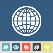 Globe icon. Flat design style — Stock Vector