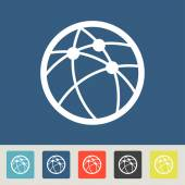 Global technology or social network icons set — Stock Vector
