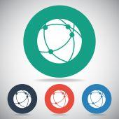 Wereldwijde technologie of sociale netwerkpictogram — Stockvector