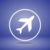 Flygplan symboler ikonen — Stockvektor