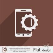 Parametreleri ayarlama, mobil akıllı telefon simgesi — Stok Vektör