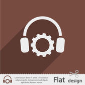 Setting parameters and musical, headphones icon — Stockvector