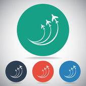 Airplane symbols icon — Stock Vector