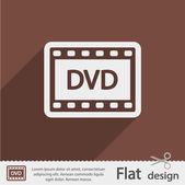 ícone de vídeo dvd — Vetor de Stock