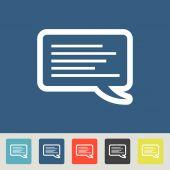 Dialogue icons set — Stock Vector