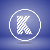 Zebra alphabet letter K — Stock Vector