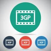 Icona video 3gp — Vettoriale Stock