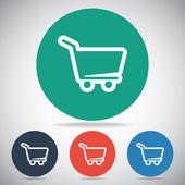 Icono de canasta comercial — Vector de stock