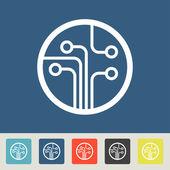 Chip Icons set — Stockvector