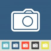 Camera icons set — Stockvector