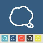 Smile talking bubble icons set — Stock Vector