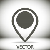 Map pointer flat icon — Stok Vektör