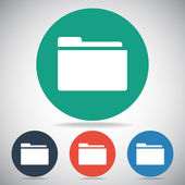 Folder icon design — Stock Vector