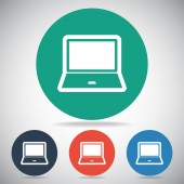 Laptop icon design — Stock Vector