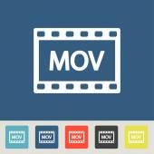 MOV video icon — Stock Vector