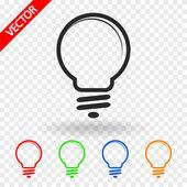 Glödlampa ikonen — Stockvektor