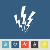 ícone de um raio — Vetor de Stock