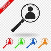 Employee Search icon — Stock Vector