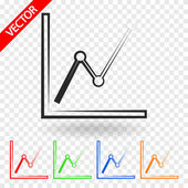 Infographic, chart icon — Stock Vector