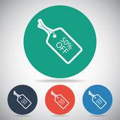 50 percent OFF tag icon — Stock Vector