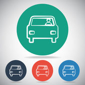 Bil-ikonen — Stockvektor