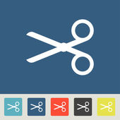 Scissors vector icons set — Stock vektor