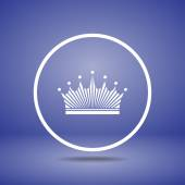 Crown icon design — Stock Vector