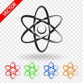 Fisica astratta scienza modello icona — Vettoriale Stock