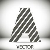 Zebra alphabet letter A — Stock Vector