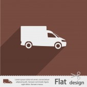 Truck flat icon — Stock Vector