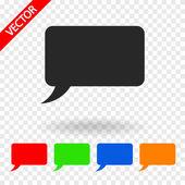 Komik konuşma kabarcıklar simgesi — Stok Vektör