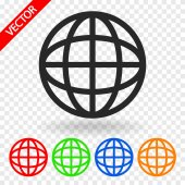 Globe icon. Flat design style — Stock Vector