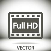 Icono de video full hd — Vector de stock
