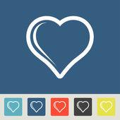 Conjunto de ícones de coração — Vetorial Stock