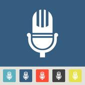 Microphone icon design — Stock Vector