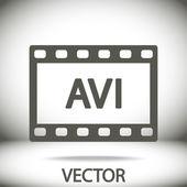 Avi video icon — Stock Vector