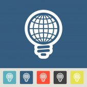 GLOBAL Light bulb icons set — Vetorial Stock