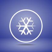Płaski ikona śnieżynki — Wektor stockowy