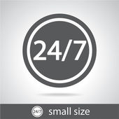 24 hours a day and 7 days a week icon — Stockvector