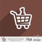 Icono de carrito compras — Vector de stock
