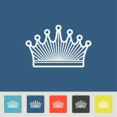 Crown vector icons set — Vettoriale Stock