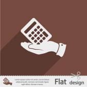Calculator icon Flat design — Stock Vector