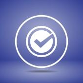 Confirm icon design — Stock Vector