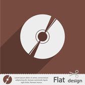 CD or DVD icon — Stock Vector
